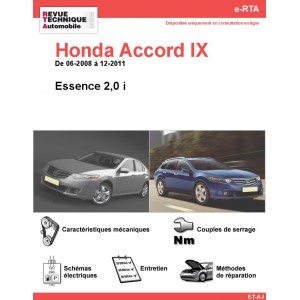 e-RTA Honda Accord IX Essence (06-2008 à 12-2011)