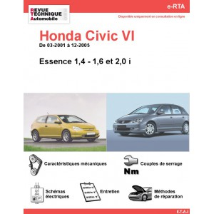 e-RTA Honda Civic VI Essence (03-2001 à 12-2005)